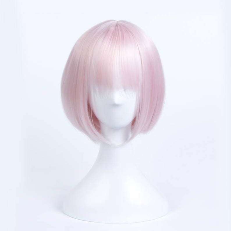 Fate//Grand Order Mash Kyrielight Anime cosplay pink hair wig+Free wig cap