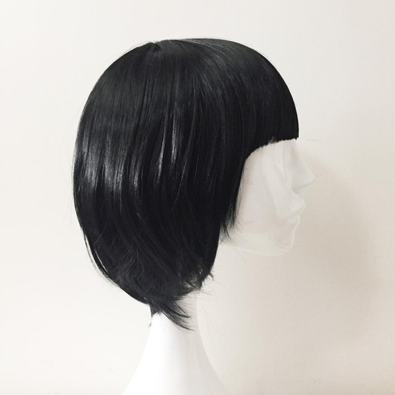 Ladies 20/'s Black Blunt Bob Lola Wig