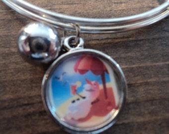 Olaf bangle charm bracelet