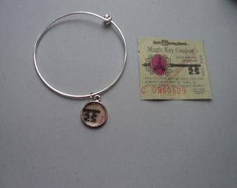 Vintage Disney ticket bangle bracelet Disney World Magic Key Coupon