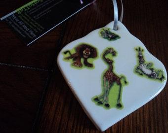 Madagascar ornament 2 sided