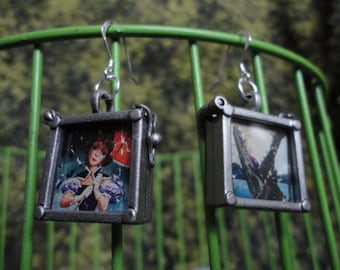 Haunted Mansion Stretching Portrait Parasol alligator girl EARRINGS sterling silver hooks