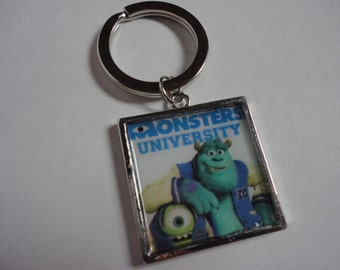 Monsters University Disney inspired Sulley Mike keychain
