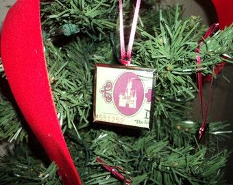 Vintage Disney ticket ornament 2 sided