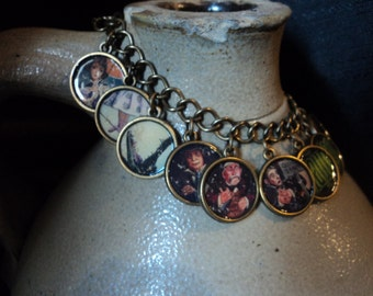 Disney's The Haunted Mansion Stretching Portrait 2 sided Charm Bracelet