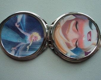 Frozen ELSA Disney Anna 2 sided mirror purse compact