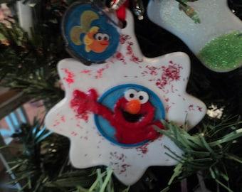 Elmo and Dorothy Christmas ornament