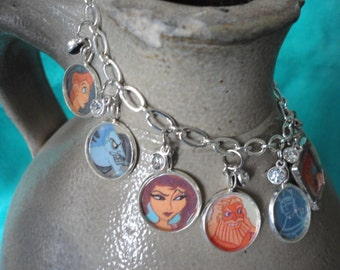 classic Disney inspired Hercules charm bracelet