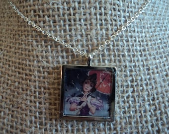 2 sided Disney's The Haunted Mansion Stretching Portrait necklace