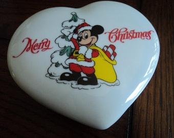 MICKEY Mouse Christmas trinket box
