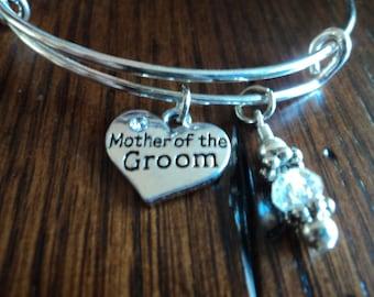 mother of the groom charm bracelet