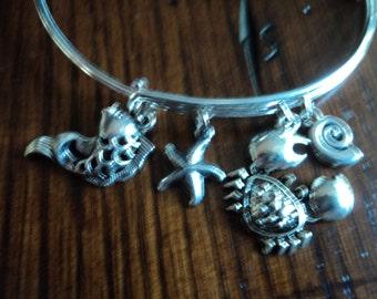 Nautical animals charm bracelet