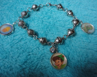Peter Pan Disney inspired charm bracelet