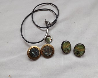 Lot of Vintage Abalone Jewelry