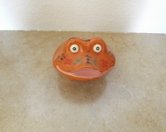 Unique Orange Frog Bank