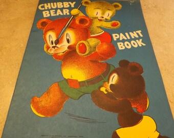 Antique Chubby Bear Paint Book