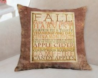 Fall Harvest Country Designer Pillow