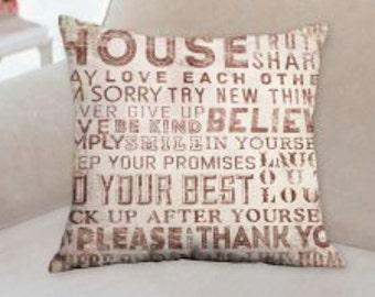 House Designer Text Pillow