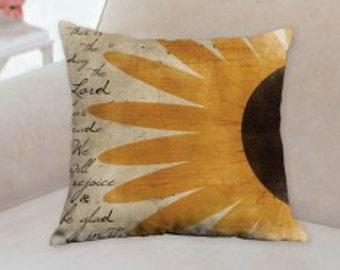 Country Designer Sunflower Pillow