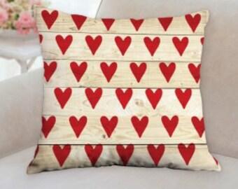 Valentines Rustic Designer Pillow