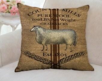 Cotton Mills Sheep Pillow