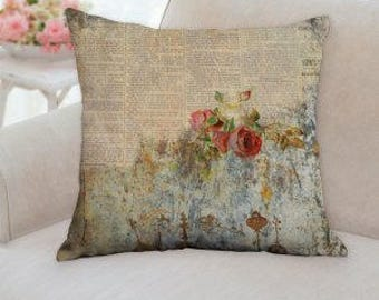 Rustic Flowers Pillow