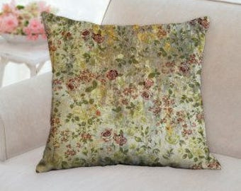 Rustic Country Flower Pillow