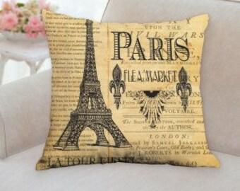 Paris Flea Market Pillow