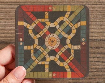 Antique Board Game Coasters  (4 coasters in a set)