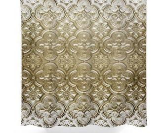 Rustic Tin Look Shower Curtain
