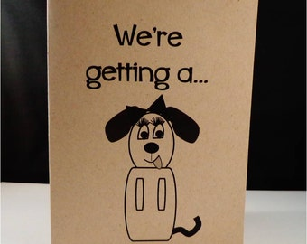 Greeting card: We're getting a divorce