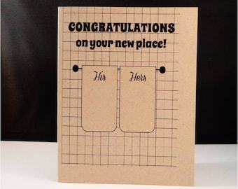 Greeting card: Congratulations on your new place and YAY for living in sin!