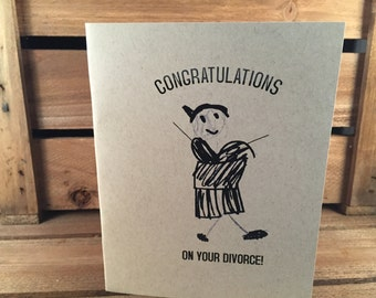 Greeting card: Congratulations on your divorce! (female version)