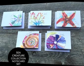 Sea Creature Collection Notecard Set (5)