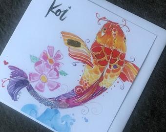 Koi Art Card (Greeting Card)