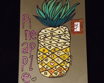 Pineapple - Hand Drawn Journal