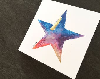 Bright Morning Star Holiday Art Card