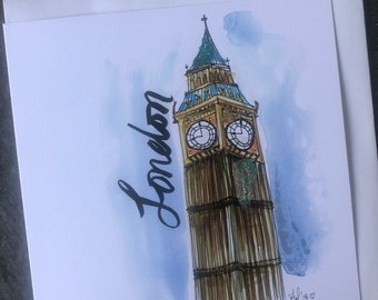 Big Ben - London - Art Card (Greeting Card)