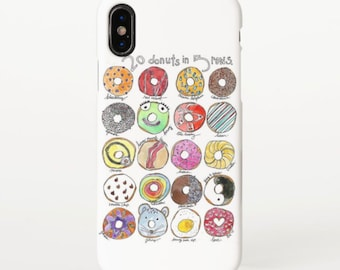20 Donuts 5 Rows Phone Case (iPhone, Samsung Galaxy Phone)
