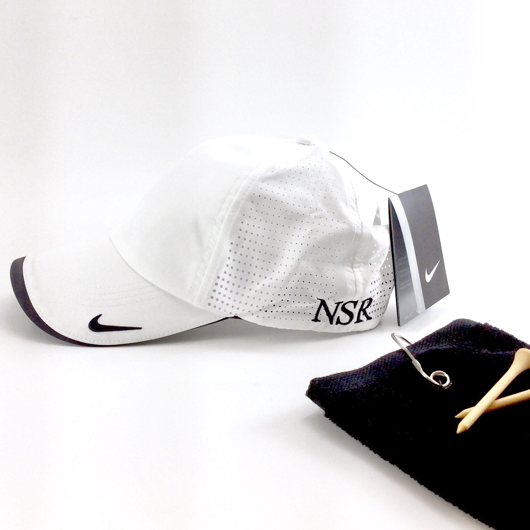 681579640af Nike Golf Dri-FIT Swoosh Perforated Cap Monogrammed Nike