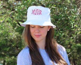 Monogrammed Bucket Hats, Bucket Hats, Personalized Hat