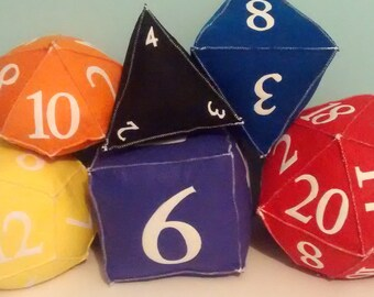 DnD Plush Dice - Full Set