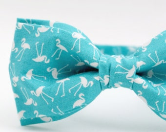 0b1efa917b51 Teal Bow Tie for Men Turquoise Bow Tie for Women Flamingo Bow Tie Wedding Bow  Tie Mens Bow Tie Groomsman Bow Tie Animal Bow Tie Animal Lover