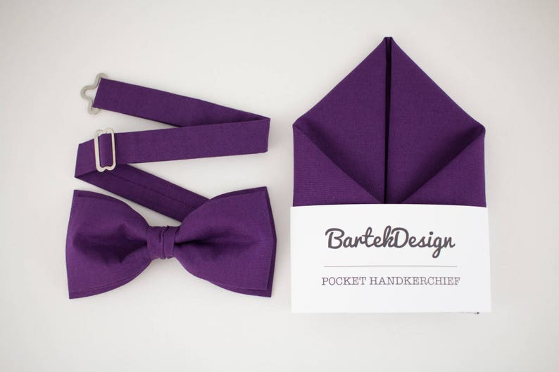 Ultra Violet Matching Set Bow Tie Pocket Square Purple Bow Tie image 0