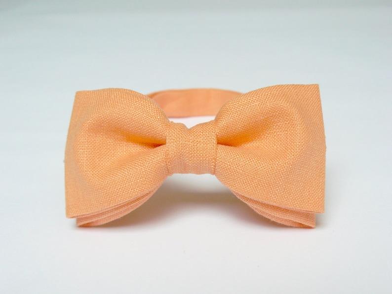 Men's Bow Tie Peach Bow Tie Orange Bow Tie Wedding Bow Tie image 0