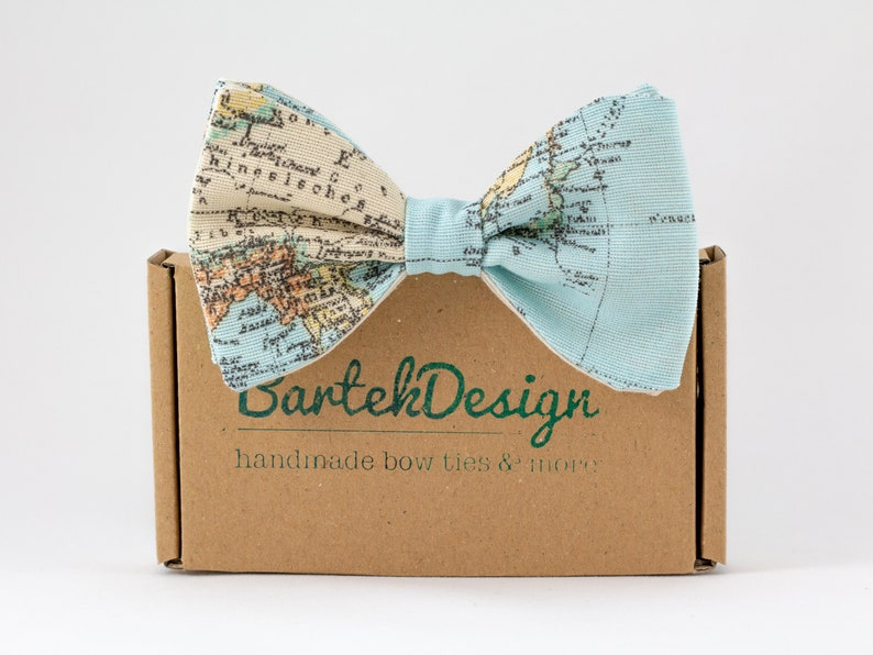 Map Bow Tie Light Blue World Map image 0