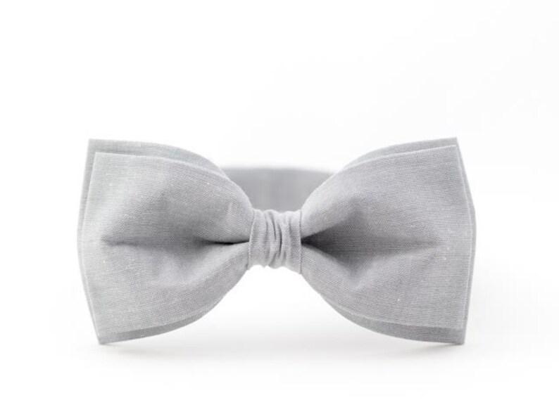 bf466fbe5b71 Gray bow tie gray wedding bow tie ashy bow tie bridegroom gift | Etsy