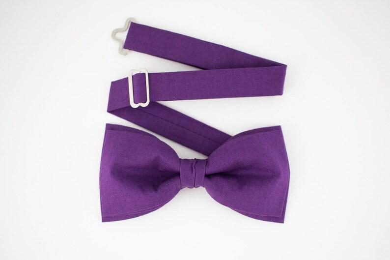 Galaxy Purple Bow Tie Pre Tied Bow Tie Ultra Violet Bow Tie image 0