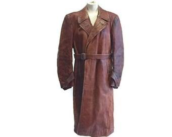 dc9c5eb15 German leather coat | Etsy
