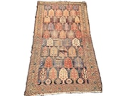 Antique Persian Rug 4 x 6 Persian Runner Rug Tree of Life Symbolic Ancient Textile